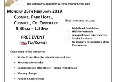 South Tipperary Stroke Awareness Event