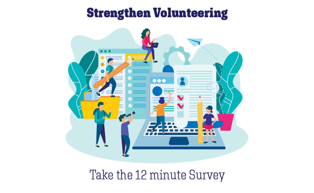 Give 12 minutes of your time to strengthen volunteering